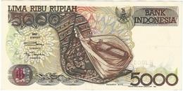 Indonesia 5.000 Rupiah 1992 (1993) Pick 130b Ref 5 - Indonesia