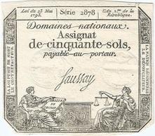Francia - France 50 Sols 23-5-1793 Pick A70 Ref 2 - Assignats