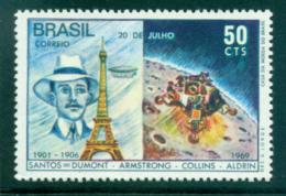 Brazil 1969 Eifel Tower, Moon Landing MUH Lot35759 - Brazil