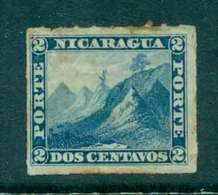 Nicaragua 1878-80 2c Liberty Cap On Mountain Rouletted (tone Spots) MH Lot46757 - Nicaragua