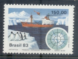 Brazil 1983 Antarctic Expedition, Penguin & Ship MUH - Brazil