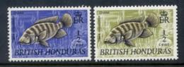 British Honduras 1969-72 Fish 0.5c, X2 MUH - Ecuador
