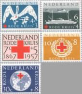 1957 Rode Kruis NVPH 695-699 Ongestempeld - 1949-1980 (Juliana)