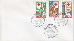 FRENCH  TOGO  FDC  RED  CROSS  NURSE  1959 - Togo (1914-1960)