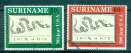 Surinam 1976 American Bicentennial FU Lot47206 - Surinam