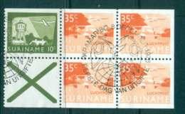 Surinam 1978 Industry 1x10c,2x35c + Label Booklet Pane FU Lot47230 - Surinam