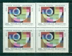 Argentina 1974 Centenary Of UPU Blk 4 MUH Lot76357 - Argentina
