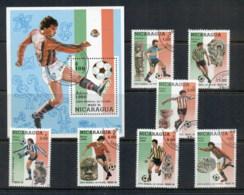 Nicaragua 1986 World Cup Soccer + MS CTO - Nicaragua