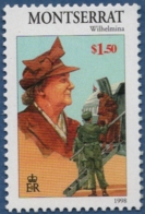 Montserrat 1998 Queen Wilhelmina Netherlands WW II, 1 Value MNH - Familles Royales