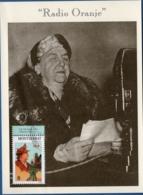 Montserrat 1998 Queen Wilhelmina, Netherlands, WW II, 1 Value On Special-picturecard - Familles Royales