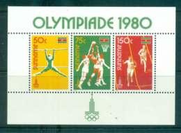 Surinam 1980 Moscow Olympics MS MUH Lot47232 - Surinam
