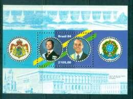 Brazil 1984 Visit Of King Carl XVI Gustaf Of Sweden MS MUH Lot47081 - Brazil