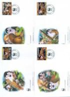 Panama 2007 WWF Red Backed Squirrel Monkey 4xFDC Lot77042 - Panama