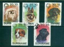 Surinam 1976 Child Welfare, Dogs FU Lot47219 - Surinam