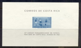 Costa Rica 1960 Pan American Soccer MS MUH - Costa Rica