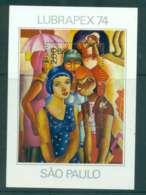 Brazil 1974 LUBRAPEX Stamp Ex. Painting MS MUH Lot47084 - Brazil