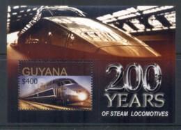Guyana 2004 Trains, 200 Years Of Steam Locomotives MS MUH - Guiana (1966-...)