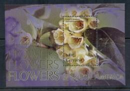 Guyana 2004 Flowers Of South America MS MUH - Guiana (1966-...)