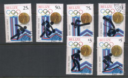 Belize 1979 Winter Olympics Medal Winners (6/8, No 1.50, $2) CTO - Belize (1973-...)