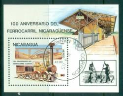 Nicaragua 1985 German Train MS CTO - Nicaragua
