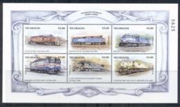 Nicaragua 1999 Trains Of The World Sheetlet 5c MUH - Nicaragua