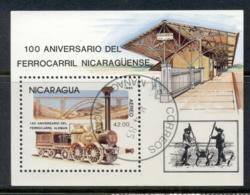 Nicaragua 1985 Trains MS CTO - Nicaragua