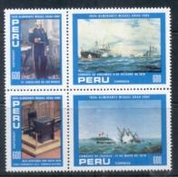 Peru 1984 Admiral Gran, Naval Battle, Ships Blk4 MUH - Peru