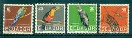 Ecuador 1958 Birds MLH/FU Lot46711 - Ecuador
