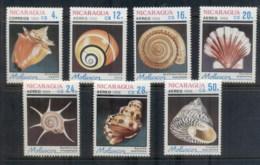 Nicaragua 1988 Seashells MUH - Nicaragua