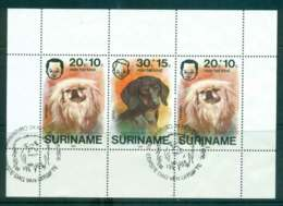 Surinam 1976 Child Welfare, Dogs MS FU Lot47220 - Surinam