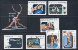 Nicaragua 1987 Pan American Games + MS CTO - Nicaragua