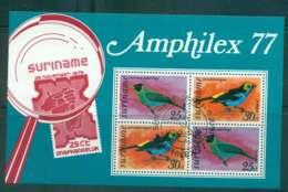 Surinam 1977 Birds AMPHILEX MS FU Lot47226 - Surinam