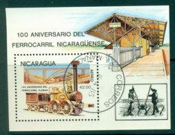 Nicaragua 1985 Trains MS CTO Lot21241 - Nicaragua