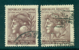 Argentina 1943 National Postal Savings Both Wmks FU Lot37154 - Argentina