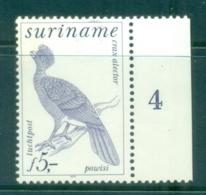 Surinam 1979 Bird, Crested Curassow MUH - Surinam