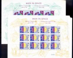 Surinam 1961 Space, Yuri Gagarin Sheetlet (20c Faulty TRC) MUH - Surinam