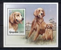 Guyana 1995 Dogs, Singapore '95 MS MUH - Guiana (1966-...)