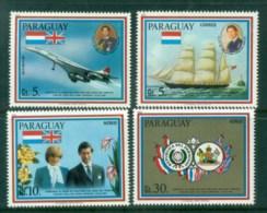 Paraguay 1981 Charles & Diana Royal Wedding MUH Lot81924 - Paraguay