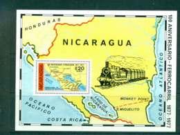 Nicaragua 1978 Train Railroad MS MUH Lot43195 - Nicaragua