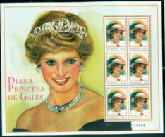 Nicaragua 1999 Princess Diana In Memoriam, Beautiful In Diamonds & Pearls MS MUH - Nicaragua