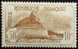 France Y&T N°230 Le Lion De Belfort 50Cc.+10c Brun Neuf* - France