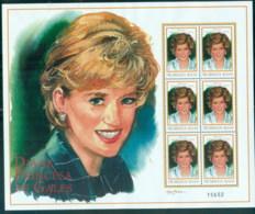 Nicaragua 1999 Princess Diana In Memoriam, A Touch Of Elegance MS MUH - Nicaragua