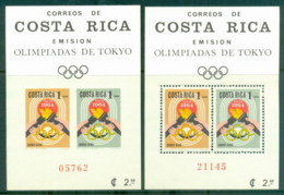 Costa Rica 1965 Summer Olympics, Tokyo Perf & IMPERF MS MUH - Costa Rica