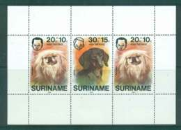 Surinam 1976 Child Welfare, Dogs MS MUH Lot47256 - Surinam