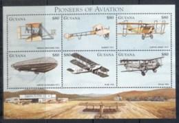 Guyana 1998 Pioneers Of Aviation Sheetlet MUH - Guyana (1966-...)