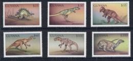 Guyana 1998 Prehistoric Animals, Dinosaurs MUH - Guiana (1966-...)