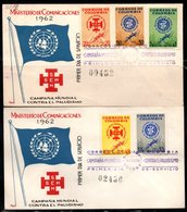 COLOMBIA- KOLUMBIEN - 1962.FDC/SPD. AGAINST MALARIA . SCARCES .SET X 2 COVERS - Colombia