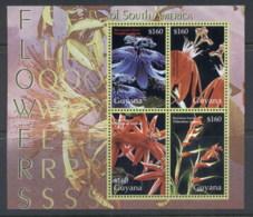 Guyana 2004 Flowers Of South America MS MUH - Guyana (1966-...)