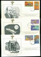 Nicaragua 1978 History Of Aviation, FAI 3xFDC Lot79571 - Nicaragua
