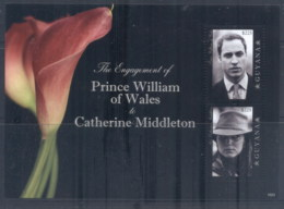 Guyana 2011 Royal Engagement William & Kate #1023 $225 MS MUH - Guyana (1966-...)